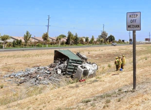 dump truck big rig accident los banos highway 152 guillermo jones