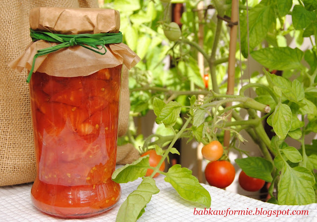 przetwory na zimę - bardzo łatwe pomidory