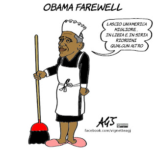 obama, obamafarewell, farewell speech, discorso di addio, vignetta, satira