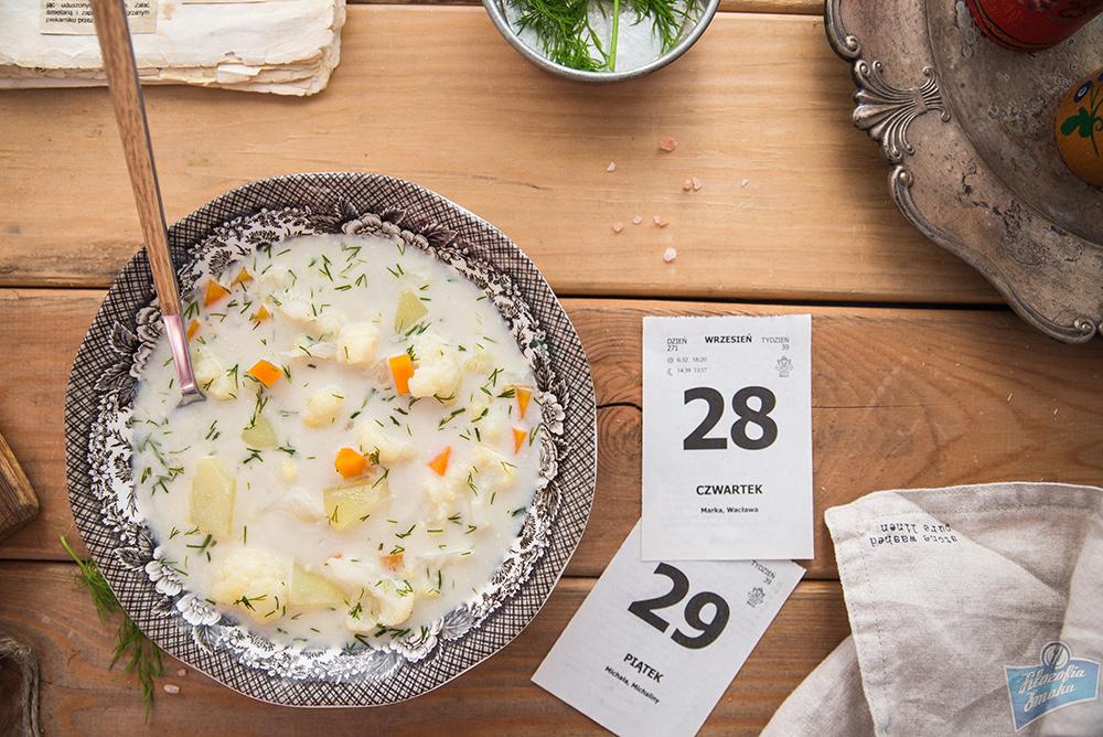Zupa z kalafiorem i ziemniakami