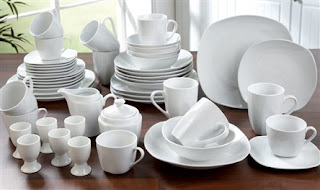 50-Piece Aspen Porcelain Dinner Set