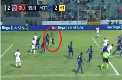 2010 FIFA World Cup, Pitch invader, Motagua, Olimpia, Sports,