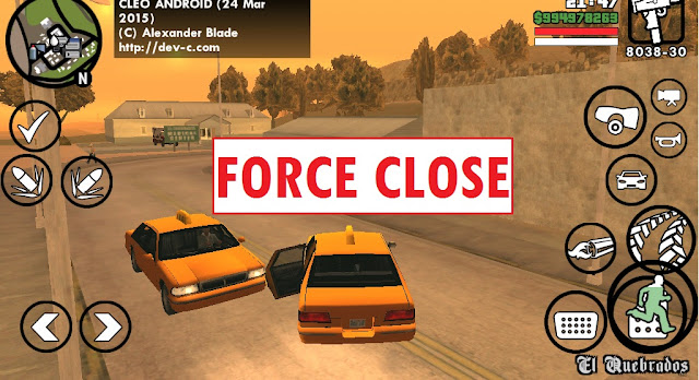 Setting GTA SA Lite Android force Close