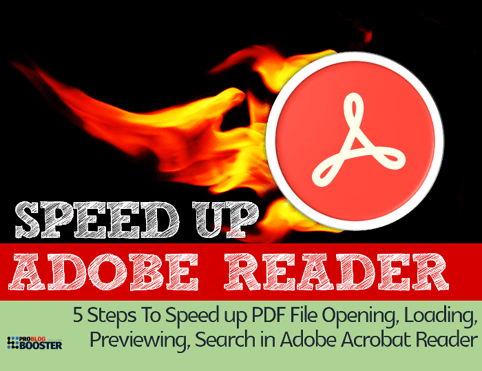 Speed up PDF File Opening
