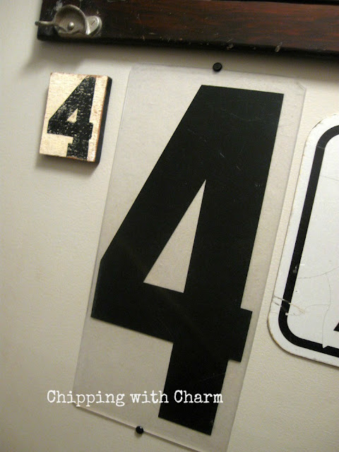 Chipping with Charm: Gallery Wall numbers...www.chippingwithcharm.blogspot.com