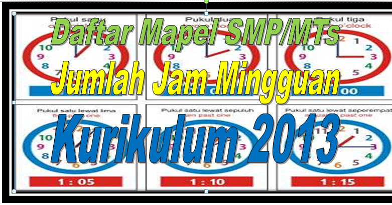 Daftar Mata Pelajaran Sesuai Struktur Kurikulum 2013 Smp Mts Sd Negeri 1 Asemrudung