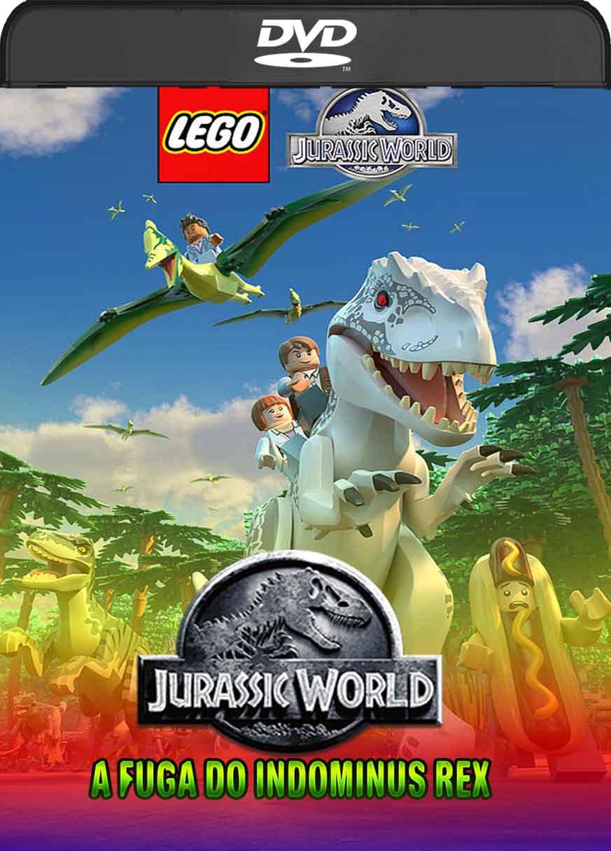 Lego Jurassic World A Fuga do Indominous Rex (2016) DVD-R Oficial