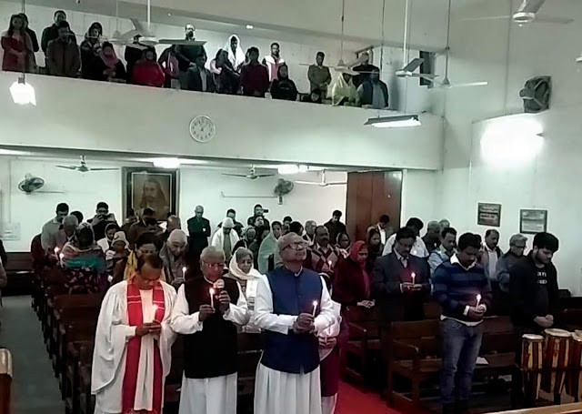 Christian community paid tribute to martyrs at peace Nivar's church, Faridabad on Kashmir incident