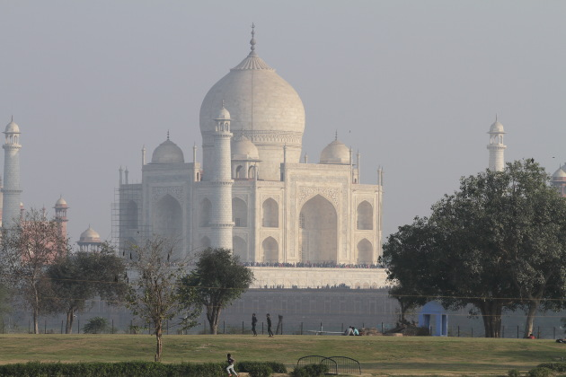 A different view of the Taj Mahal, Agra, India