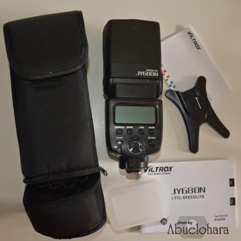 Flash externo TTL para cámaras DSLR