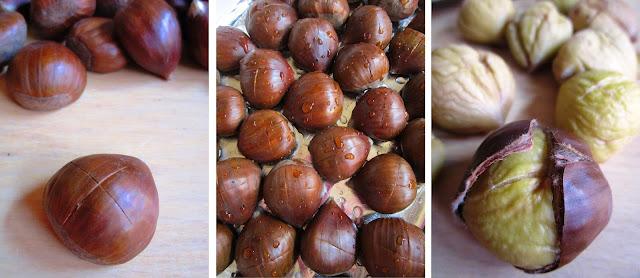 Tiramisù de castañas y Moscatel - Elaboración Paso 1