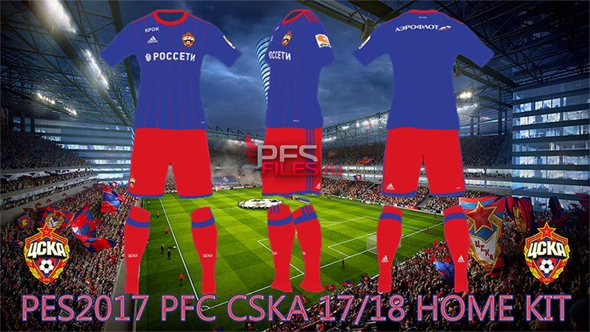 PES 2017 CSKA Moscow 17-18 Home Kit by Egor 7 58f2bbb56