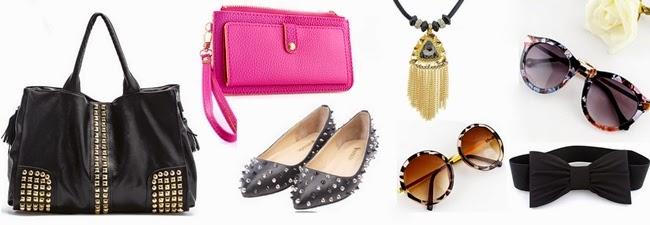 15509dcf2 Bolsa tachinhas, Clutch pink, Sapatilha spikes, colar de franjas, óculos de  oncinha, óculos floral, cinto de laço