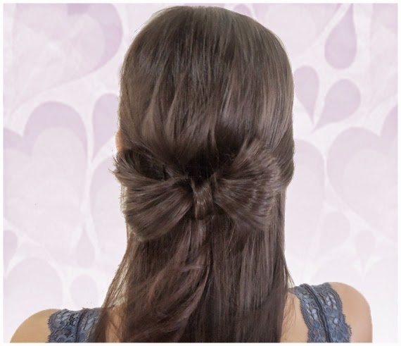 passo a passo Penteado de laço com o cabelo