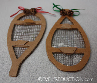Recycled Craft: How to make a Snowshoe Holiday Ornament