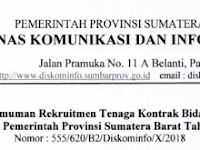 Lowongan Kerja Dinas Komunikasi dan Informatika Provinsi Sumatera Barat