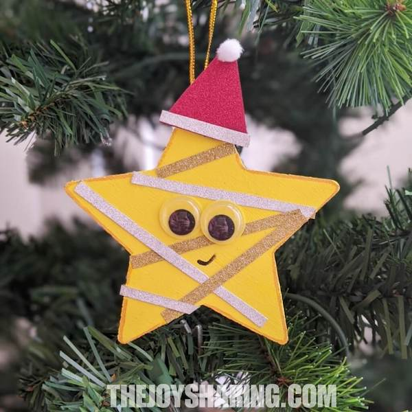 How to make star ornament? Simple Christmas activity for preschoolers.