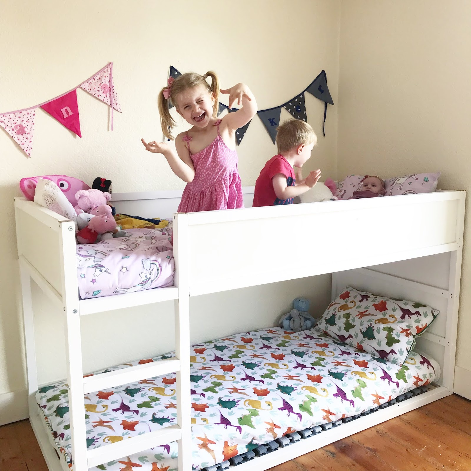 simple ikea kura bunk bed hack | the perfect bunk beds for under 5s