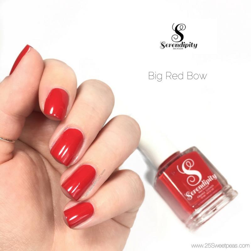 Serendipity Nail Polish Big Red Bow