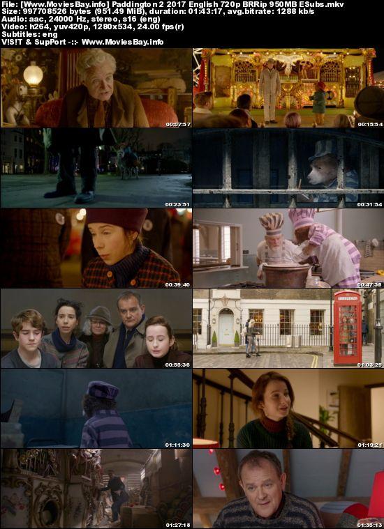 Paddington 2 2017 English 720p BRRip 950MB ESubs worldfree4u