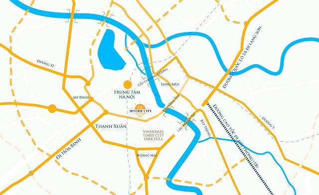 vị trí đắc địa Hinode City Minh Khai