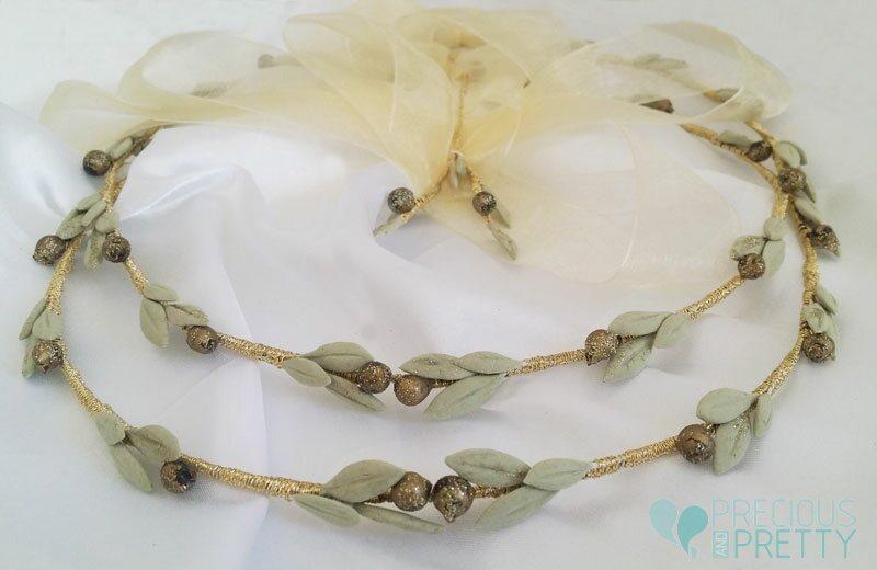 Olive leaves Greek wedding crowns
