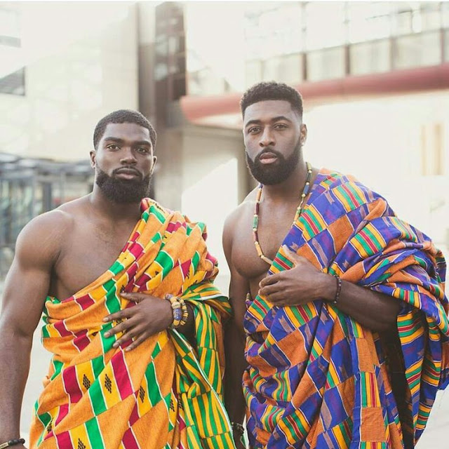 Kente Cloth Romper Men