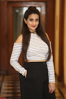 Manjusha in sleevelss crop top and black skirt at Darshakudu pre release ~  Exclusive Celebrities Galleries 115.JPG