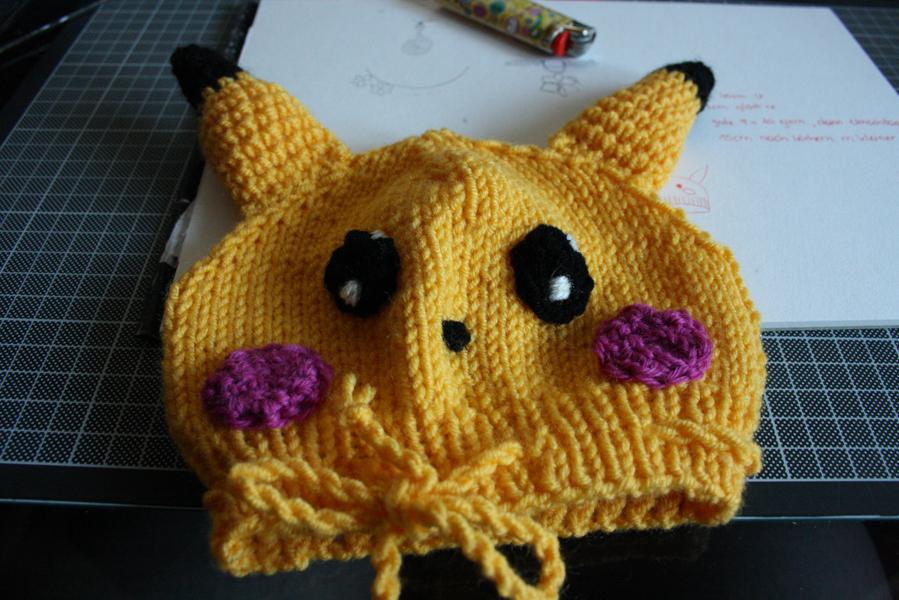 Handwerke Schmückendes Pikachu Mütze Und Söckchen