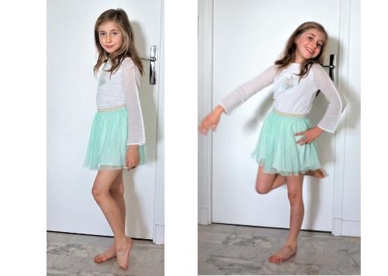 Patatam et jupe plissée Zara