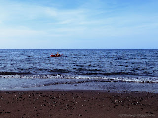 Beach Vacation Riding Canoe On The Sea Water At Umeanyar Village, Seririt, North Bali, Indonesia