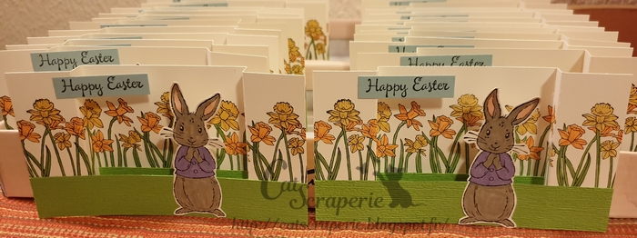 Fable Friends, Stampin'Up! you're inspiring, lapin, pâques