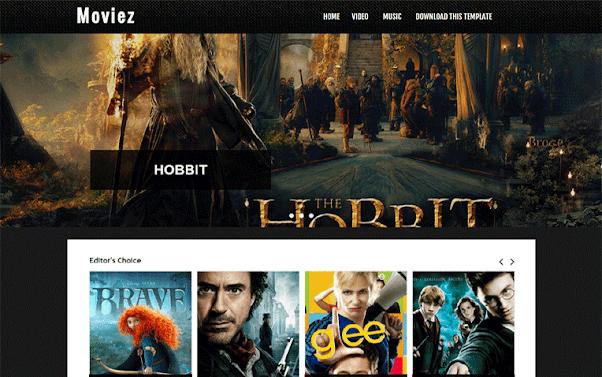 Moviez Free Blogger Template