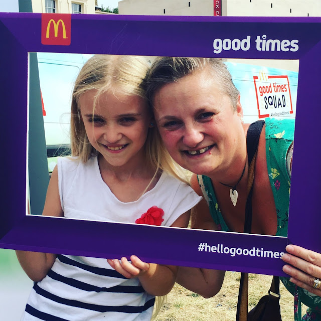 madmumof7 and daughter selfie #hellogoodtimes McDonald's
