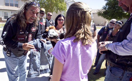 Bikers Against Child Abuse BACA help empower children and integrate them back into society