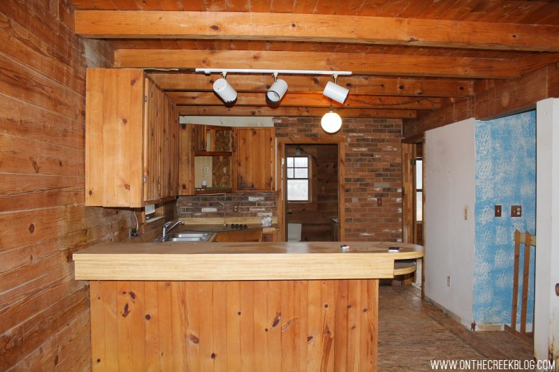 'Before' photo of our kitchen when we first purchased our fixer upper!