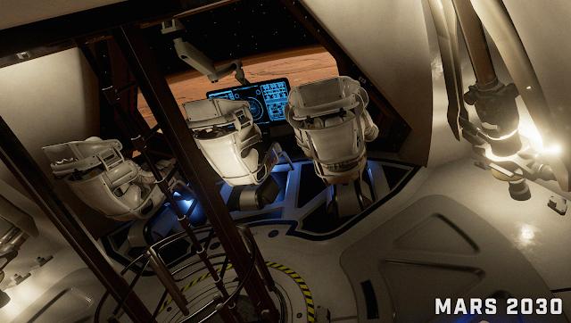 Mars 2030 VR image - lander interior