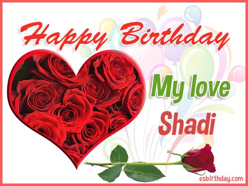 happy birthday shadi