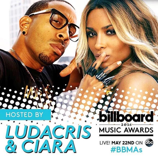 Ludacris And Ciara To Host 2016 Billboard Music Awards