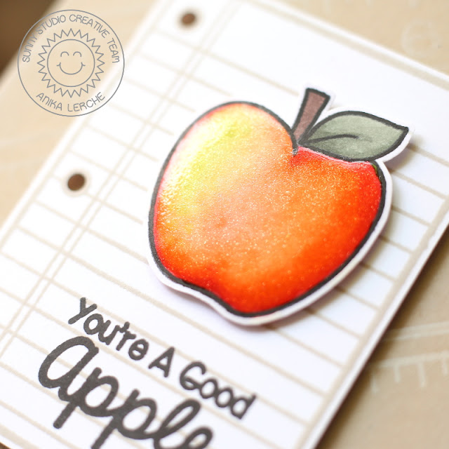 Sunny Studio Stamps: School Time You're A Good Apple Card by Anni Lerche.
