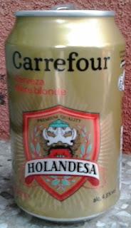 lata de cerveza holandesa rubia marca carrefour