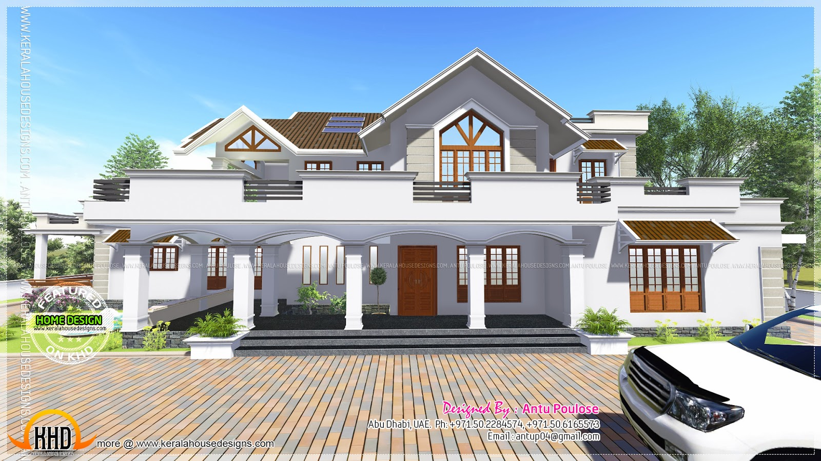 Modern Style Sloped Roof House 4000 Sq Ft Home Kerala