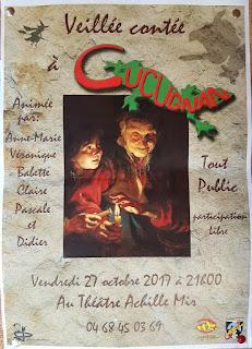 Soirée contée au village de Cucugnan le vendredi 27 octobre 2017