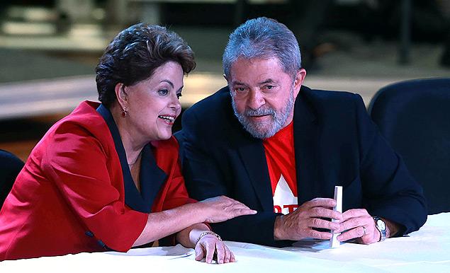 Lula e Dilma amor eterno