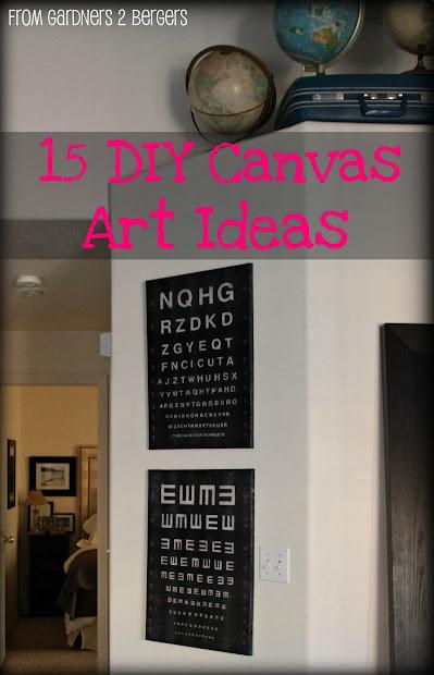 Gardners 2 Bergers 15 Ideas Diy Canvas Art
