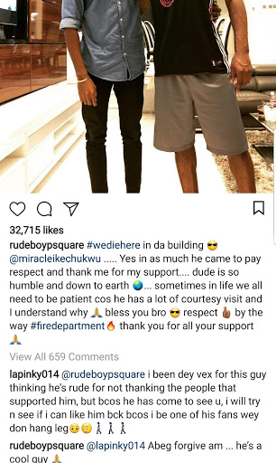 Miracle visits Paul Okoye Twitts