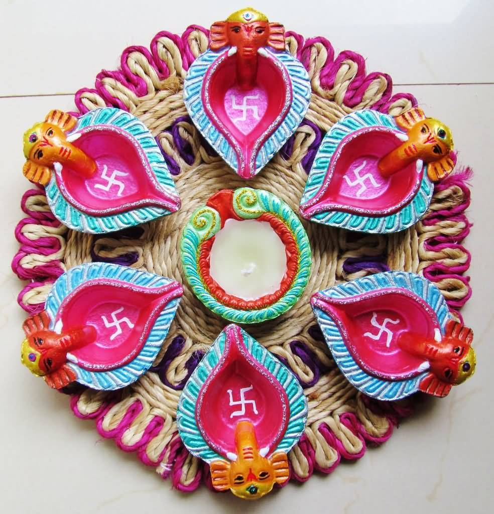 Diwali decoration ideas galleries 2017 for office house for Diwali decorations ideas home