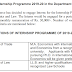 Internship Programme  (Law) 2019-20 in the Department of Commerce - last date  25th May, 2019