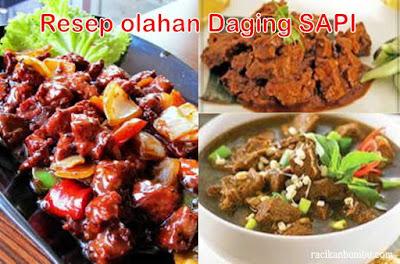 Resep olahan Daging SAPI saat hari raya Idul Adha 1438H tahun 2017