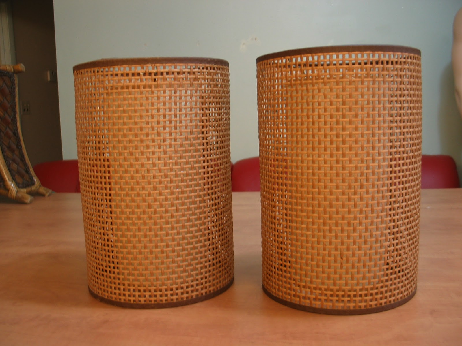 Dave S Mid Century Stuff Before And After Danish Modern Table Lamp Shades